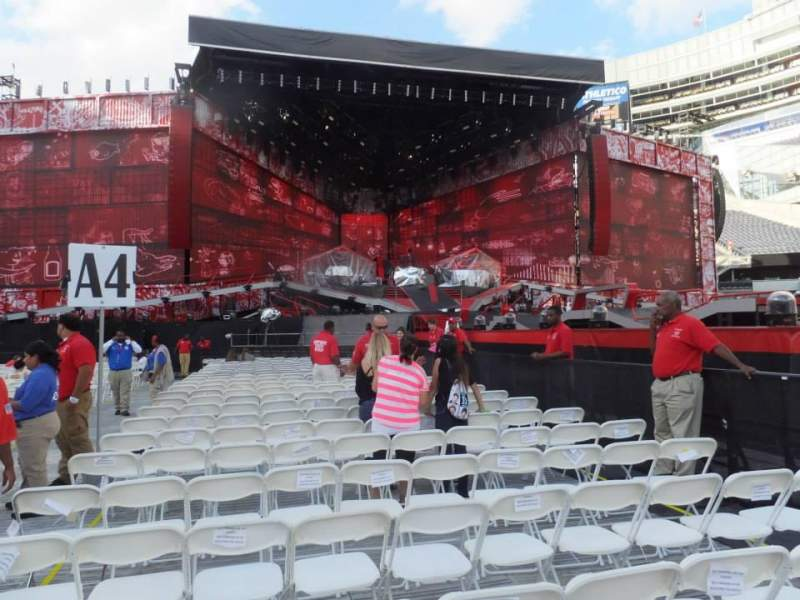Seating view for Soldier Field Section B4 Row 4 Seat 4