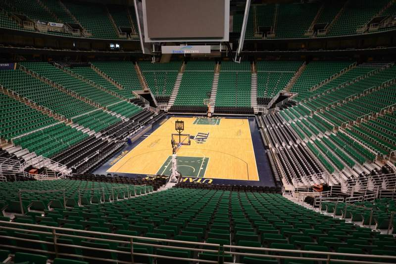 Seating view for Vivint Smart Home Arena Section 1 Row 25 Seat 8
