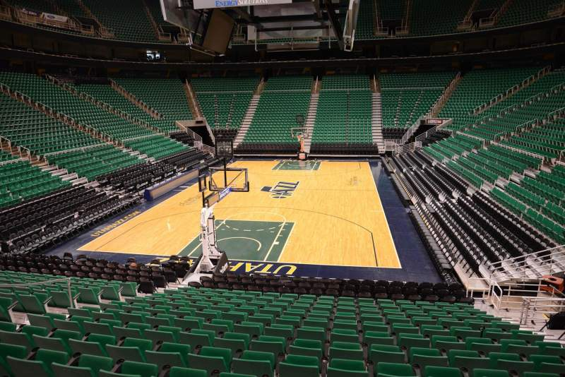 Seating view for Vivint Smart Home Arena Section 1 Row 15 Seat 8