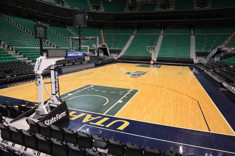 Seating view for Vivint Smart Home Arena Section 1 Row 5 Seat 8