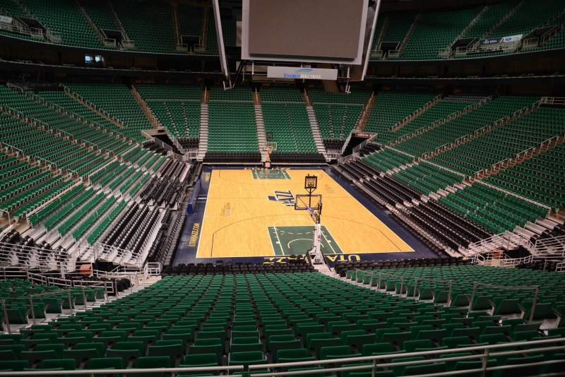 Seating view for Vivint Smart Home Arena Section 2 Row 25 Seat 8