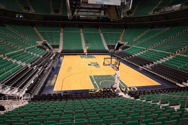 Seating view for Vivint Smart Home Arena Section 2 Row 15 Seat 8
