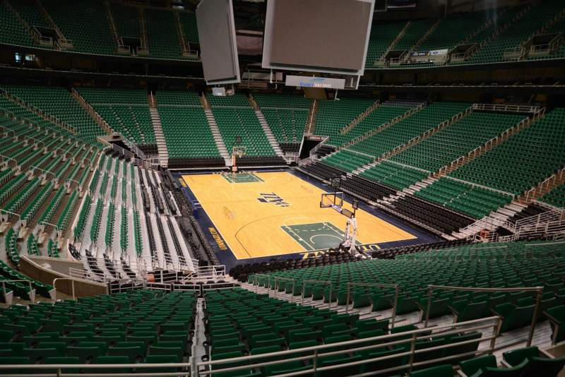 Seating view for Vivint Smart Home Arena Section 3 Row 25 Seat 12