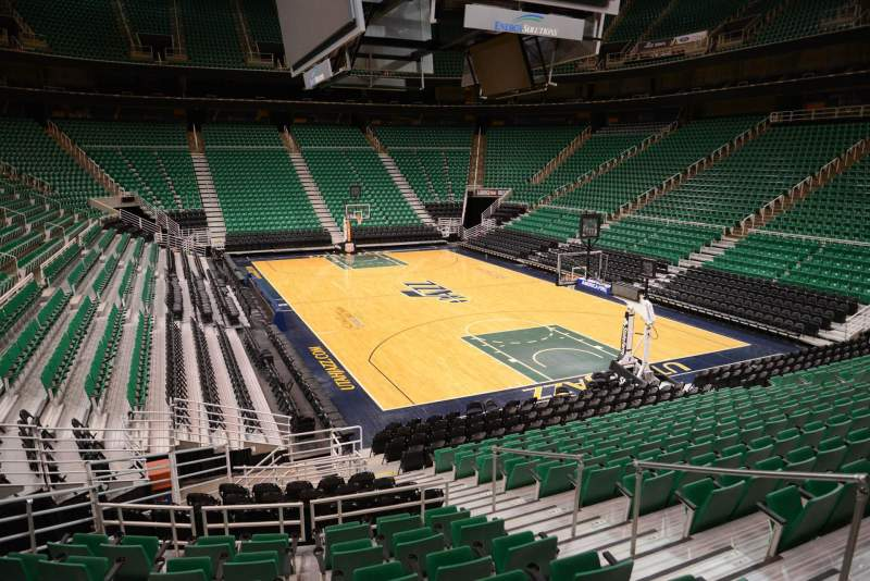 Seating view for Vivint Smart Home Arena Section 3 Row 15 Seat 7