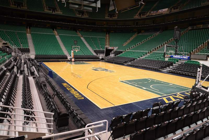 Seating view for Vivint Smart Home Arena Section 3 Row 5 Seat 3
