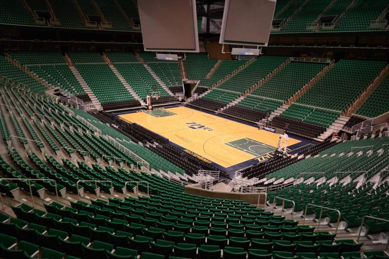 Seating view for Vivint Smart Home Arena Section 4 Row 25 Seat 11