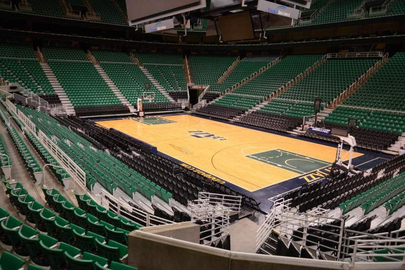 Seating view for Vivint Smart Home Arena Section 4 Row 15 Seat 5