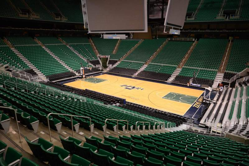 Seating view for Vivint Smart Home Arena Section 5 Row 25 Seat 8