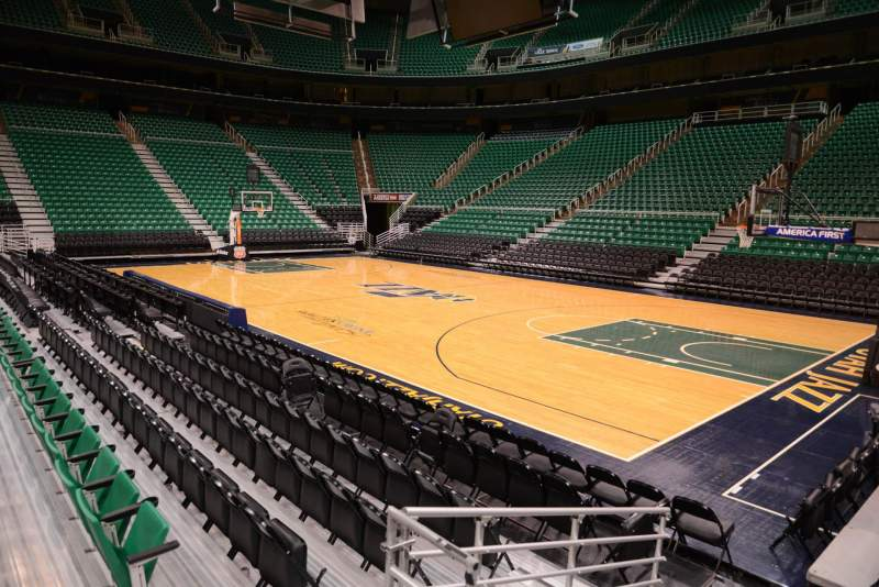 Seating view for Vivint Smart Home Arena Section 5 Row 5 Seat 2