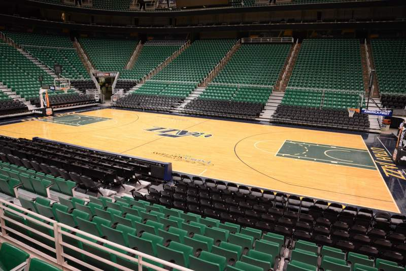 Seating view for Vivint Smart Home Arena Section 6 Row 10 Seat 10