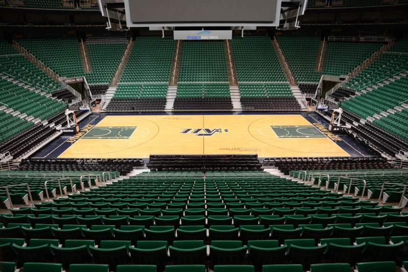 Seating view for Vivint Smart Home Arena Section 7 Row 25 Seat 9
