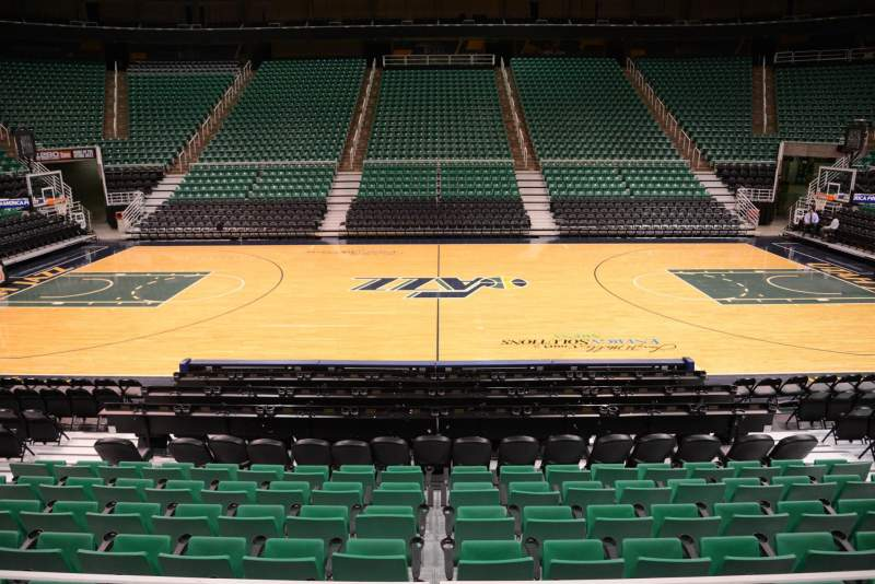 Seating view for Vivint Smart Home Arena Section 7 Row 10 Seat 9