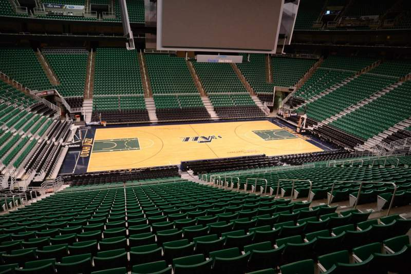Seating view for Vivint Smart Home Arena Section 8 Row 29 Seat 9