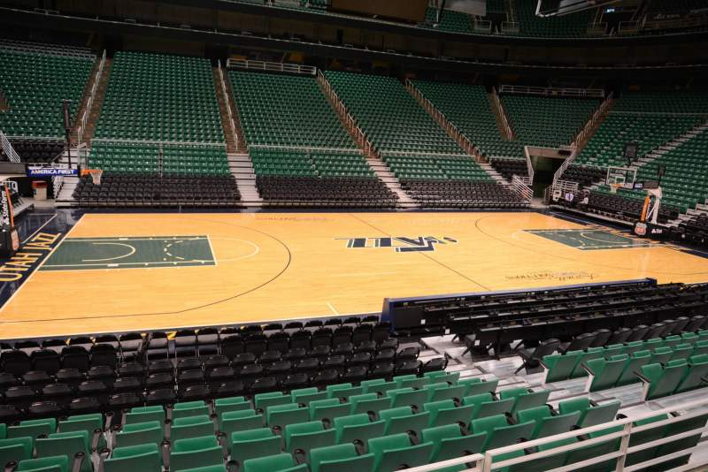 Seating view for Vivint Smart Home Arena Section 8 Row 10 Seat 9