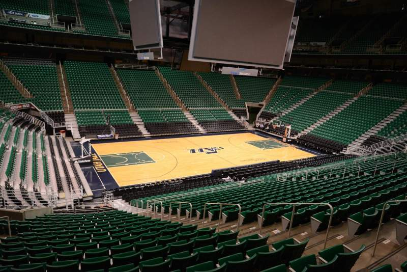 Seating view for Vivint Smart Home Arena Section 9 Row 25 Seat 8