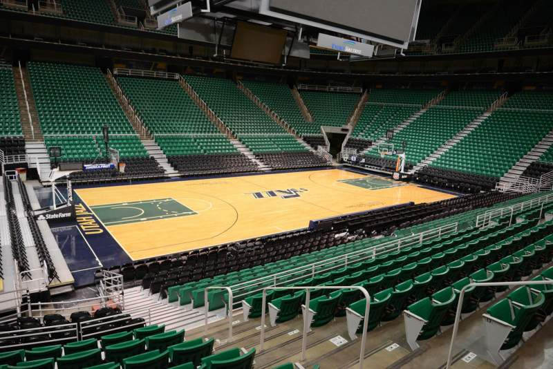 Seating view for Vivint Smart Home Arena Section 9 Row 15 Seat 4