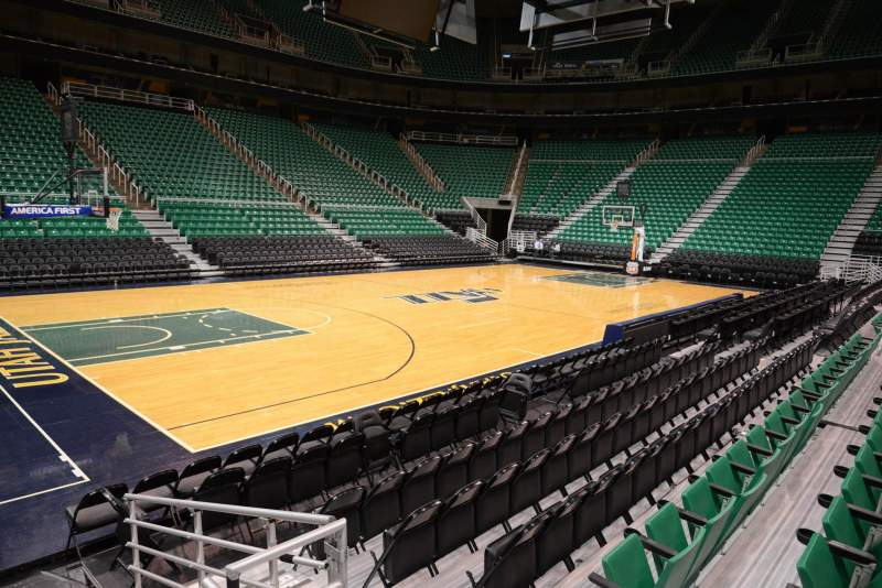 Seating view for Vivint Smart Home Arena Section 9 Row 5 Seat 2
