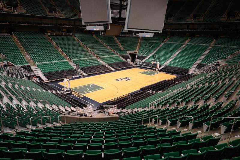 Seating view for Vivint Smart Home Arena Section 10 Row 25 Seat 11