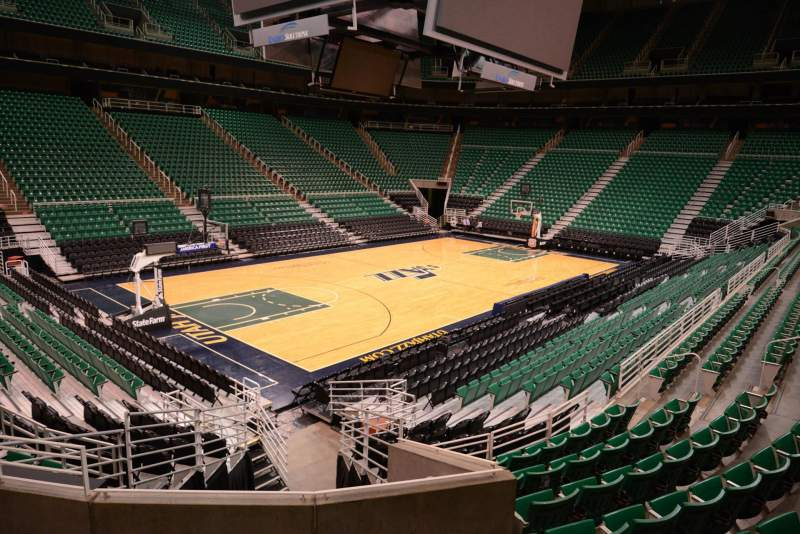 Seating view for Vivint Smart Home Arena Section 10 Row 15 Seat 4