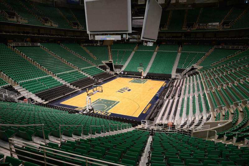Seating view for Vivint Smart Home Arena Section 11 Row 25 Seat 11