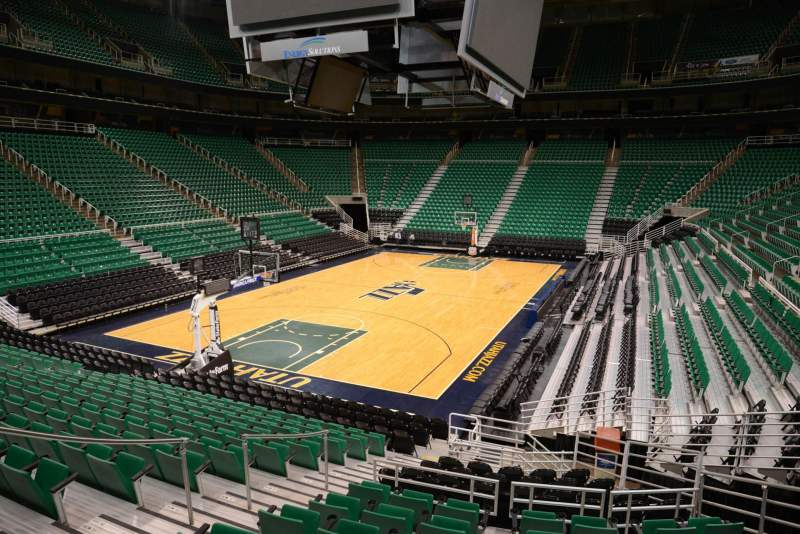 Seating view for Vivint Smart Home Arena Section 11 Row 15 Seat 7