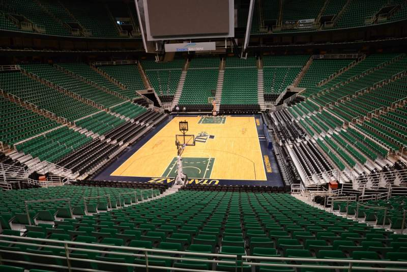 Seating view for Vivint Smart Home Arena Section 12 Row 25 Seat 8