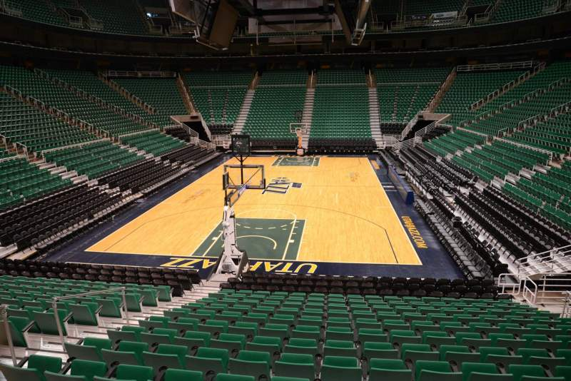 Seating view for Vivint Smart Home Arena Section 12 Row 15 Seat 7
