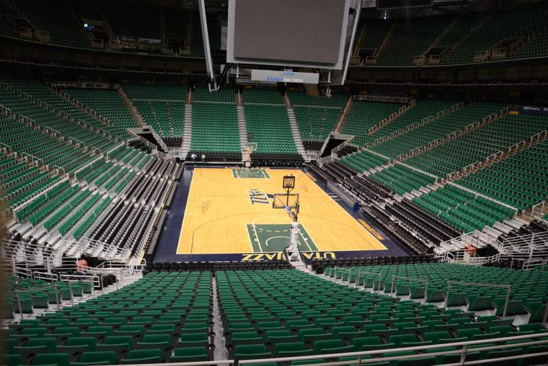 Seating view for Vivint Smart Home Arena Section 13 Row 25 Seat 9