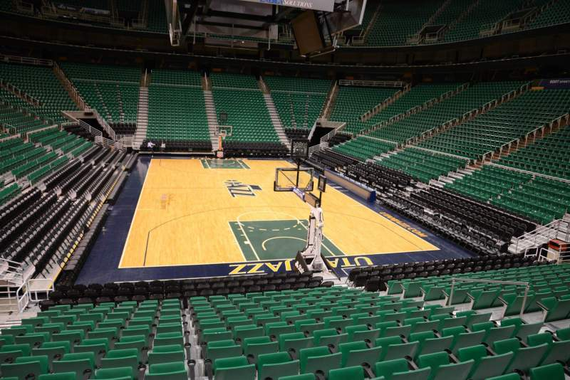 Seating view for Vivint Smart Home Arena Section 13 Row 15 Seat 9