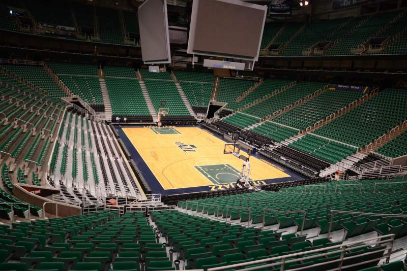 Seating view for Vivint Smart Home Arena Section 14 Row 25 Seat 7