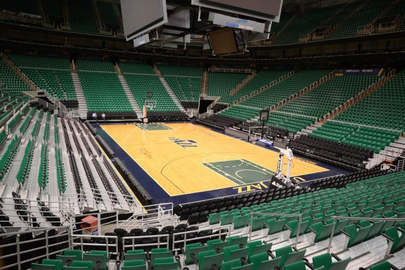Seating view for Vivint Smart Home Arena Section 14 Row 15 Seat 7