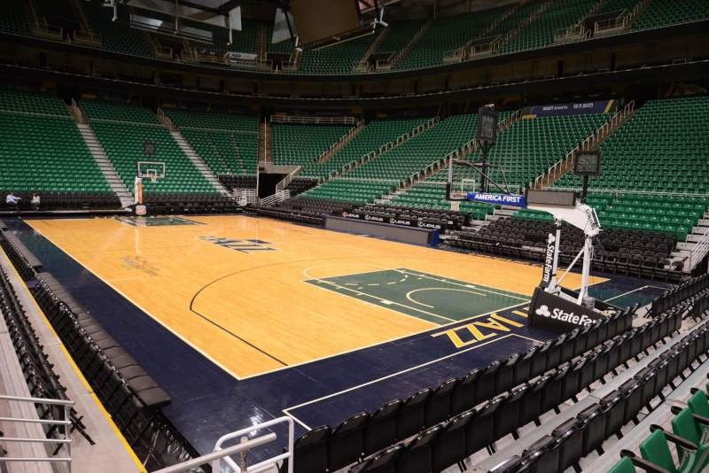 Seating view for Vivint Smart Home Arena Section 14 Row 5 Seat 3