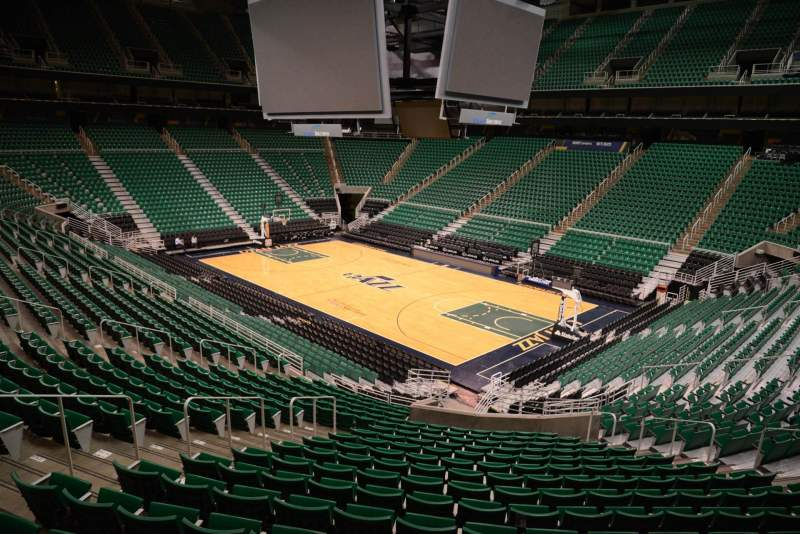 Seating view for Vivint Smart Home Arena Section 15 Row 25 Seat 11
