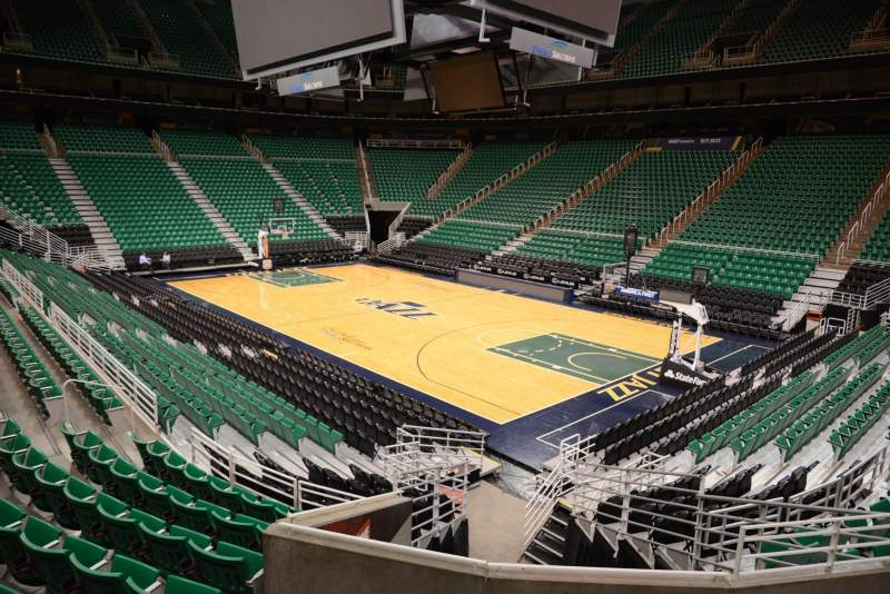 Seating view for Vivint Smart Home Arena Section 15 Row 15 Seat 8