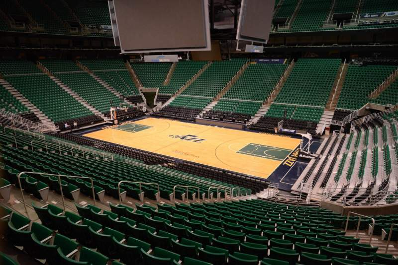 Seating view for Vivint Smart Home Arena Section 16 Row 25 Seat 10