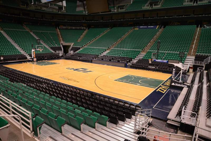 Seating view for Vivint Smart Home Arena Section 16 Row 10 Seat 5