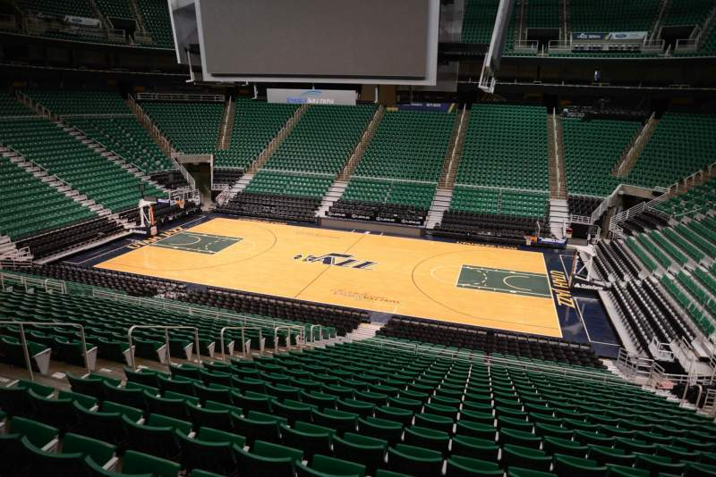 Seating view for Vivint Smart Home Arena Section 17 Row 25 Seat 9