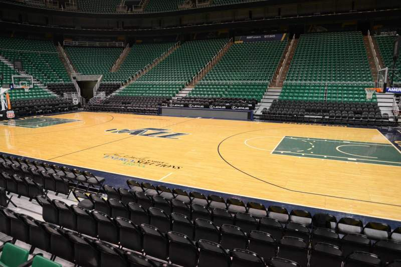 Seating view for Vivint Smart Home Arena Section 17 Row 5 Seat 9