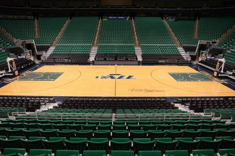 Seating view for Vivint Smart Home Arena Section 18 Row 15 Seat 9