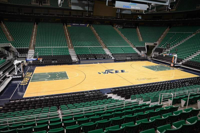 Seating view for Vivint Smart Home Arena Section 19 Row 15 Seat 9