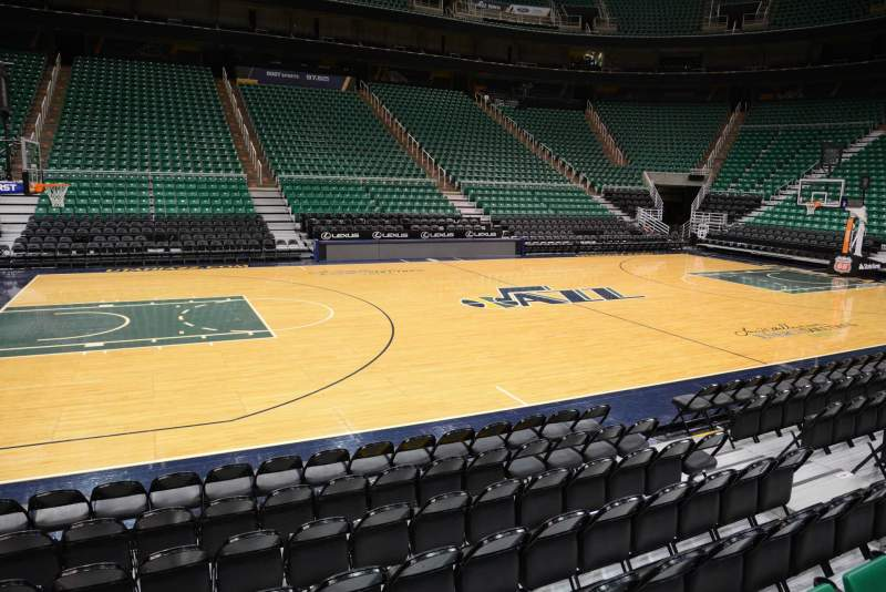 Seating view for Vivint Smart Home Arena Section 19 Row 5 Seat 9