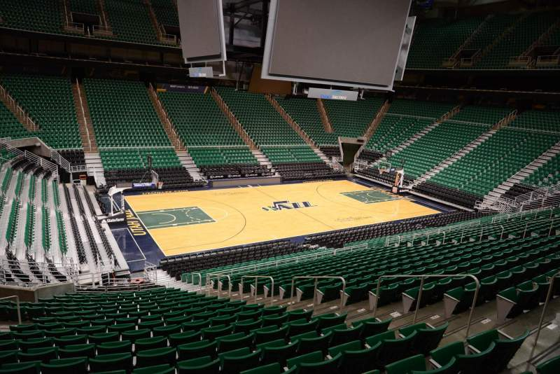 Seating view for Vivint Smart Home Arena Section 20 Row 25 Seat 7