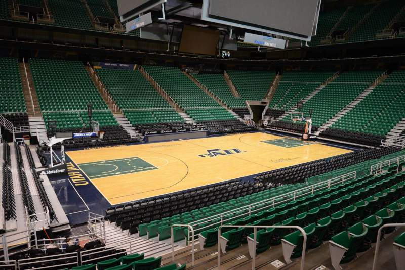 Seating view for Vivint Smart Home Arena Section 20 Row 15 Seat 5