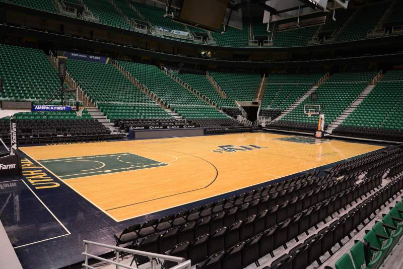 Seating view for Vivint Smart Home Arena Section 20 Row 5 Seat 3
