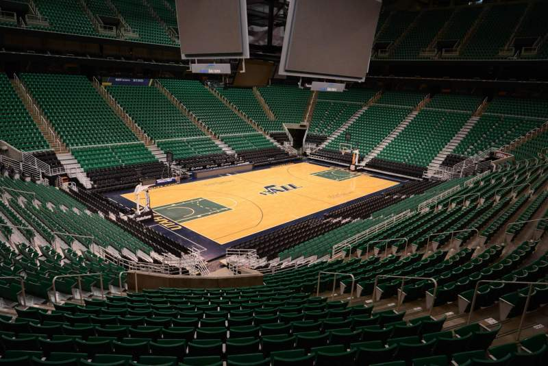 Seating view for Vivint Smart Home Arena Section 21 Row 25 Seat 10