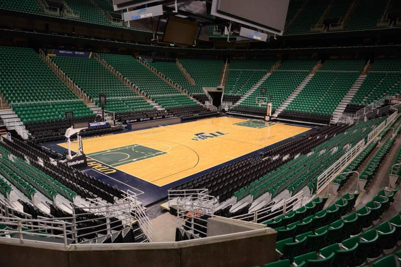 Seating view for Vivint Smart Home Arena Section 21 Row 15 Seat 5