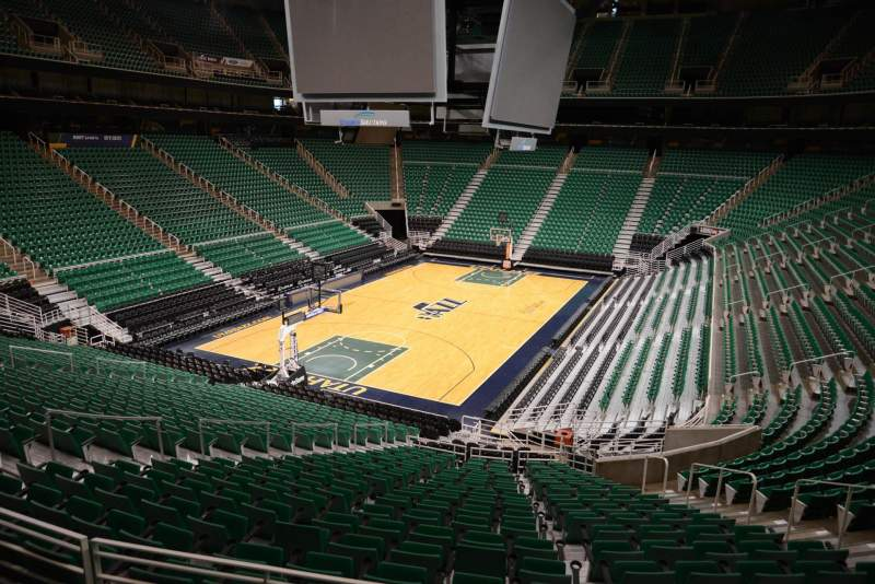 Seating view for Vivint Smart Home Arena Section 22 Row 25 Seat 11