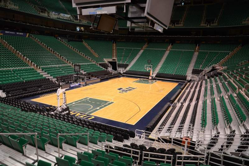 Portland Trail Blazers Arena >> Vivint Smart Home Arena, section 22, home of Utah Jazz