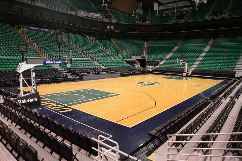 Seating view for Vivint Smart Home Arena Section 22 Row 5 Seat 3
