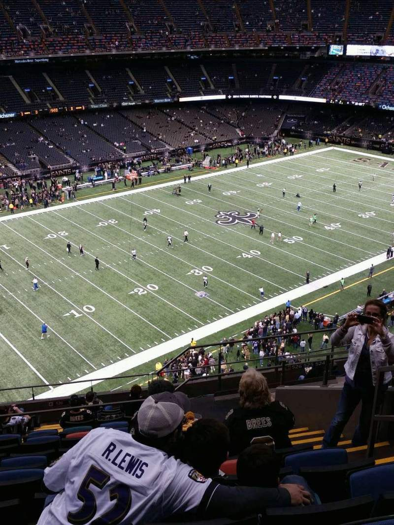 Seating view for Mercedes-Benz Superdome Section 620 Row 16 Seat 4